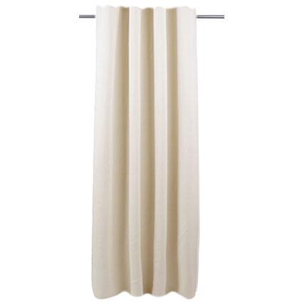 Rideau Decomode 'Charlotte' occultant blanc cassé agrafes 140 x 280 cm