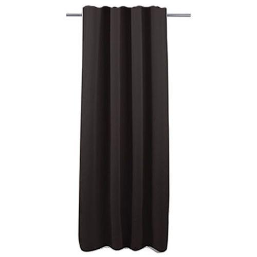 Rideau Decomode 'Charlotte' occultant noir agrafes 140 x 280 cm