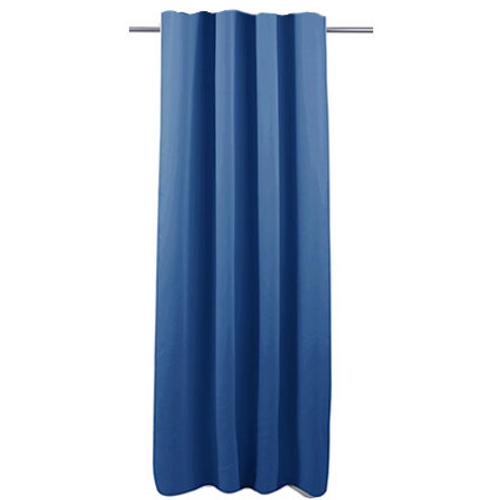 Rideau Decomode 'Charlotte' occultant bleu agrafes 140 x 280 cm