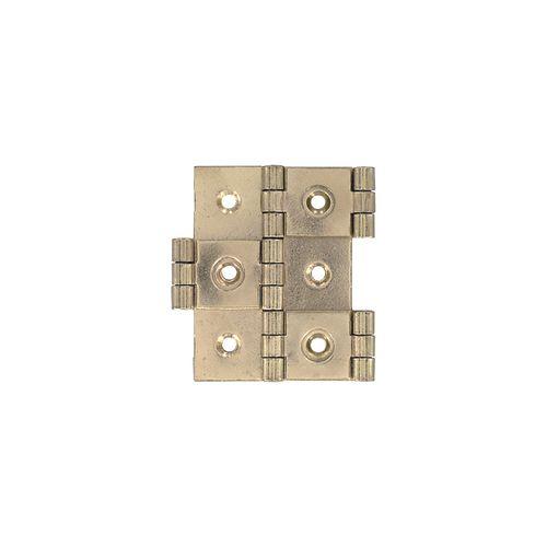 Vynex windschermscharnier vermessingd staal 60 x 25 mm - 2 stuks