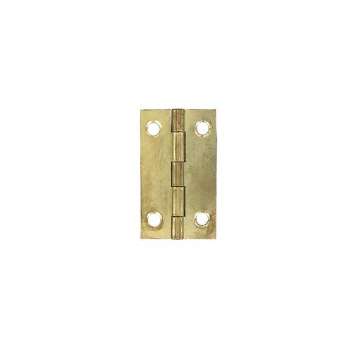 Vynex universeel scharnier vermessingd staal 50 x 30 mm - 4 stuks