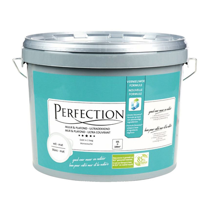 Perfection latex verf 'Muur & Plafond Green' wit mat 10L