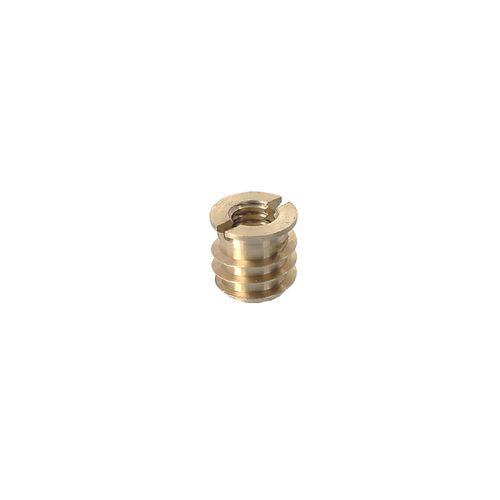 Ecrou Vynex acier laitonné diam. 14 mm M8 - 4 pcs