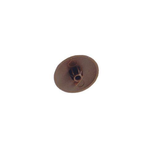 Cache vis Vynex plastique marron - 16 pcs