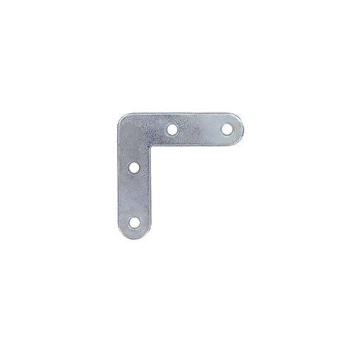 Equerre Vynex acier zingué gris 50 mm - 4 pcs