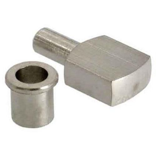 Taquet Vynex acier nickelé gris diam. 7 mm - 8 pcs