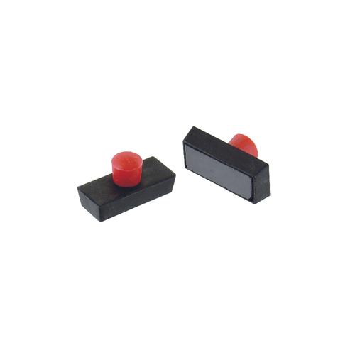 Vynex magneet plastiek 25 x 7 mm - 4 stuks