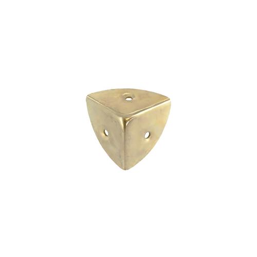 Vynex kofferhoek vermessingd staal 25 mm - 4 stuks
