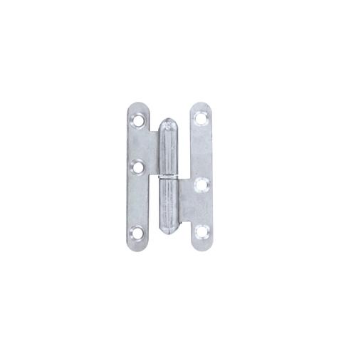 Paumelle Vynex acier bichromaté 110 x 55 mm droite