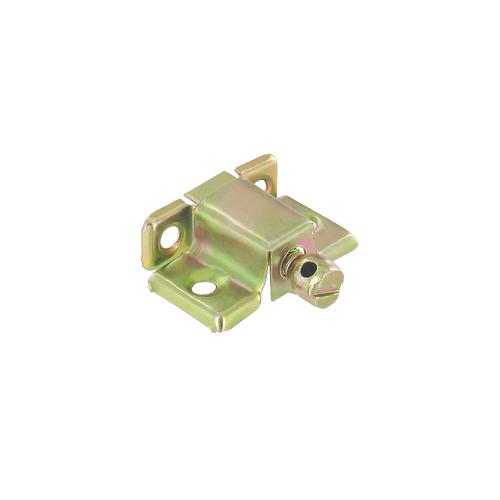 Vynex verbindingsbeslag geel verzinkt staal 41 x 28 mm - 4 stuks