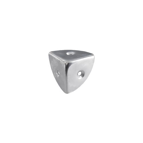 Vynex kofferhoek vernikkeld staal 25 mm - 4 stuks
