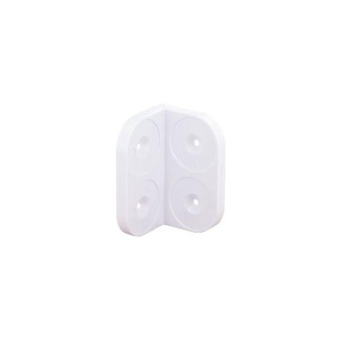 Equerre Vynex plastique 28 mm - 4 pcs