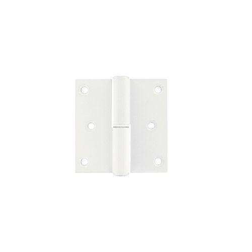 Paumelle Vynex aluminium blanc 80 x 80 mm droite - 3 pcs