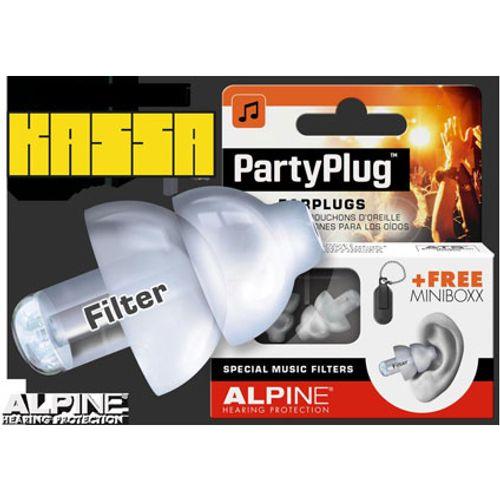 Alpine PartyPlug oorplugs in cassette oranje 215100