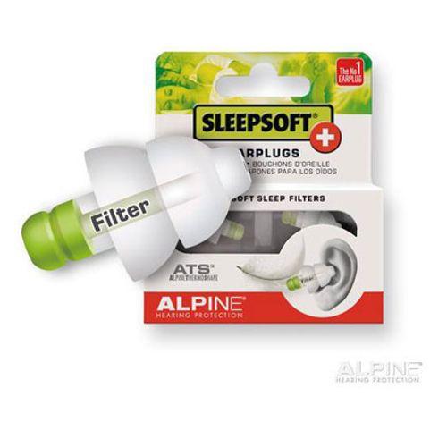 Alpine SleepSoftplus oorplugs groen - cassette zwart 11121910