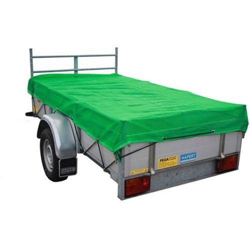 TOPPROTECT fijnmazig aanhangwagennet 4,5x2,5 m groen 14002237