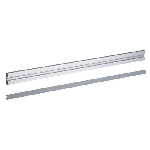 Hettich schuif- en geleiderail 'SlideLine66' gris 2 m - 2 stuks