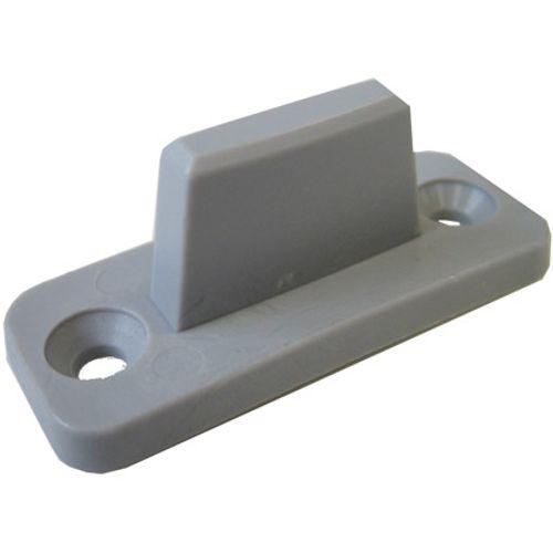 Hettich vloergeleider schuifdeur pvc grijs - 3 stuks