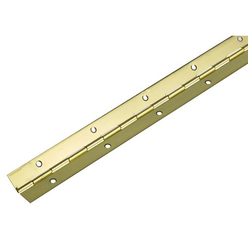Hettich scharnier vermessingd staal 32 x 1200 mm