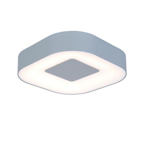 Lutec buiten wandlamp 'Ublo vierkant' grijs 11W