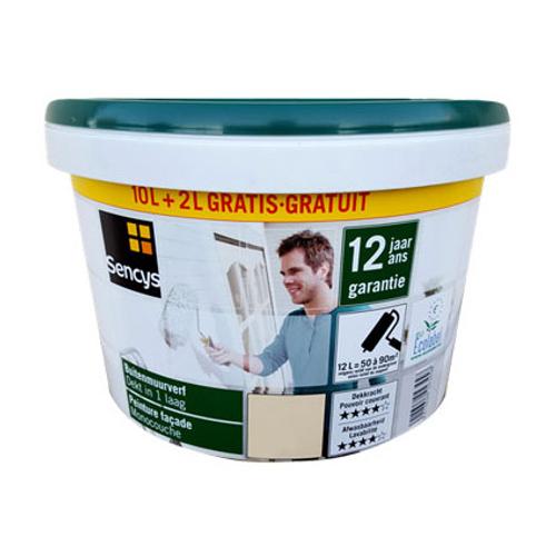 Peinture façade Sencys monocouche gris 12 L