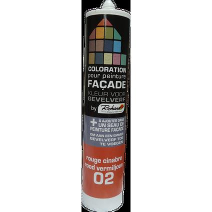 Colorant pour peinture façades Richard rouge cinabre 450 gr