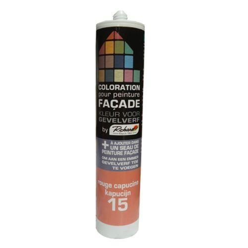 Colorant pour peinture façades Richard rouge capucine 450 gr