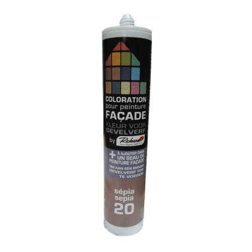 Colorant pour peinture façades Richard sépia 450 gr