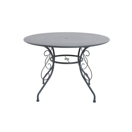 Table bistro Central Park 'Lucille' acier anthracite Ø 110 cm