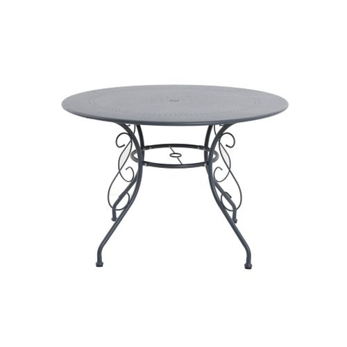 Table bistro Central Park 'Lucille' acier anthracite Ø 110 cm