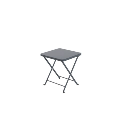 Table bistro Central Park 'Mini Stacy' acier anthracite 40 x 40 cm