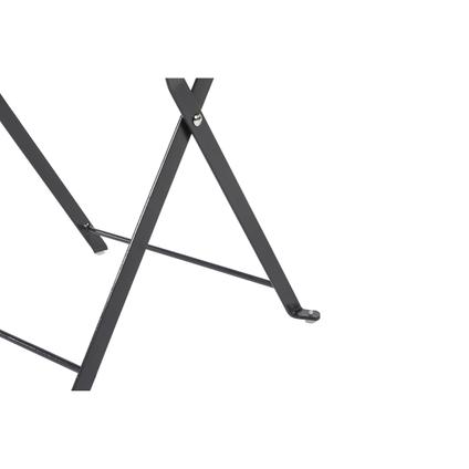 Table bistro Central Park 'Mini Stacy' acier anthracite 40 x 40 cm