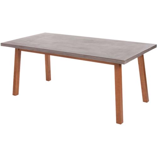 Table de jardin Central Park 'Alano' ciment/bois gris 180 x 90 cm