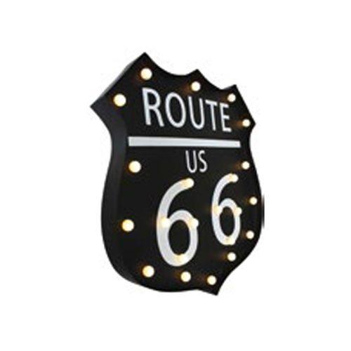Pancarte lumineuse 'Route 66'