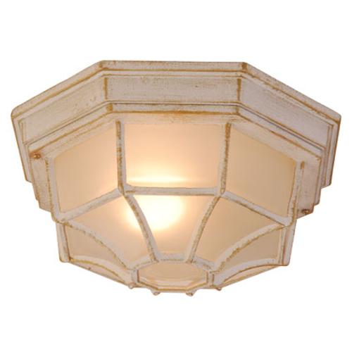 Globo plafondlamp outdoor Perseus wit
