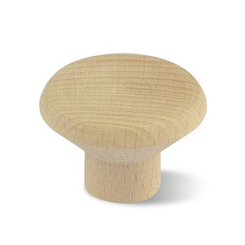Decomode knop plat rond blank hout klein 35mm 2st.