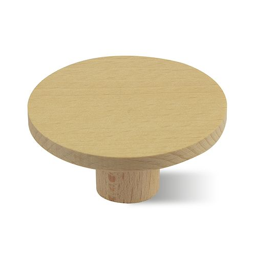 Decomode knop Plat rond large blank hout 60mm