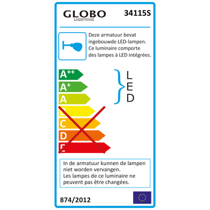 Globo Bouwlamp Projecteur V sensor