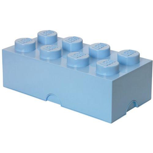 Opbergbox LEGO steen 8 licht blauw