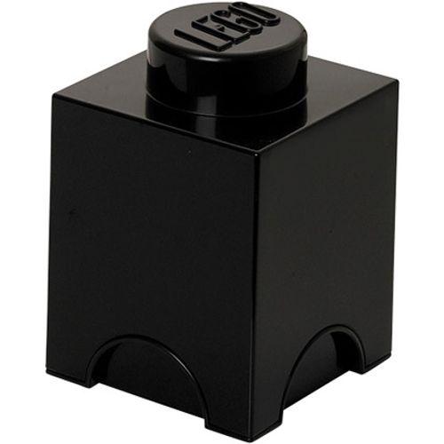 Opbergbox LEGO steen 1 zwart
