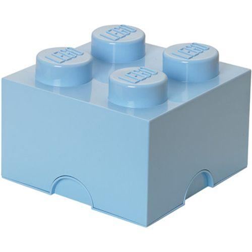Opbergbox LEGO steen 4 licht blauw