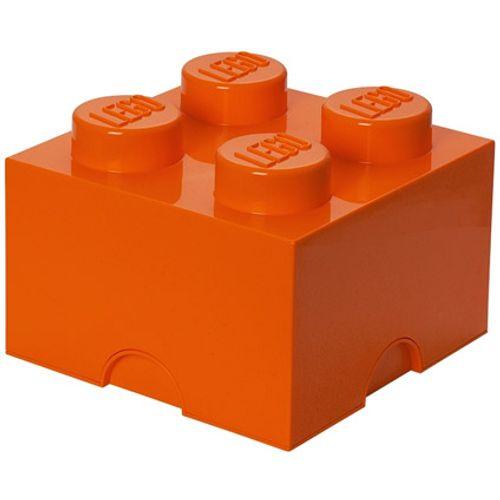 Opbergbox LEGO steen 4 oranje