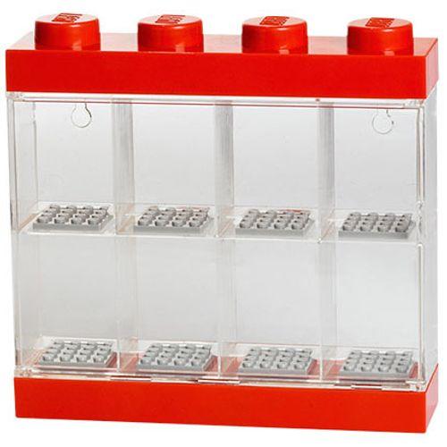Opbergbox LEGO minifiguren rood 8-delig