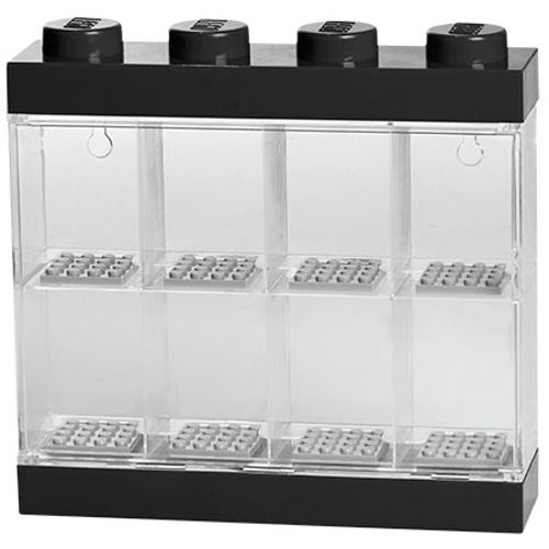 Opbergbox LEGO minifiguren zwart 8-delig