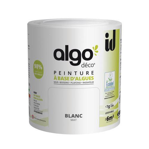 Peinture murale Algo blanc mat 500ml