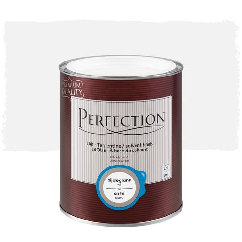 Laque Perfection utra couvrant satin solvant blanc 750ml