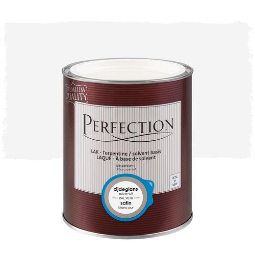 Perfection lak Ultradekkend zijdeglans terpentine basis zuiver wit RAL 9010 750ml
