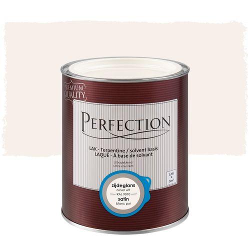 Perfection lak Ultradekkend zijdeglans terpentine crèmewit RAL 9001 750ml