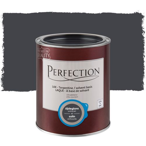 Laque Perfection Ultra couvrant satinée solvant anthracite 750ml