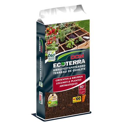 DCM potgrond groenten en kruiden Ecoterra 60L